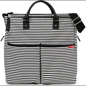 SkipHop Duo Striped Diaper Bag